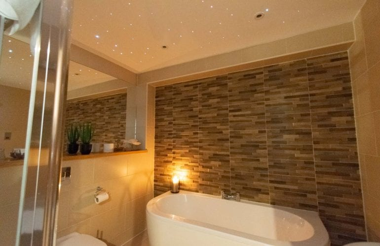 Master Suite Bathoom with Twinkle Ceiling