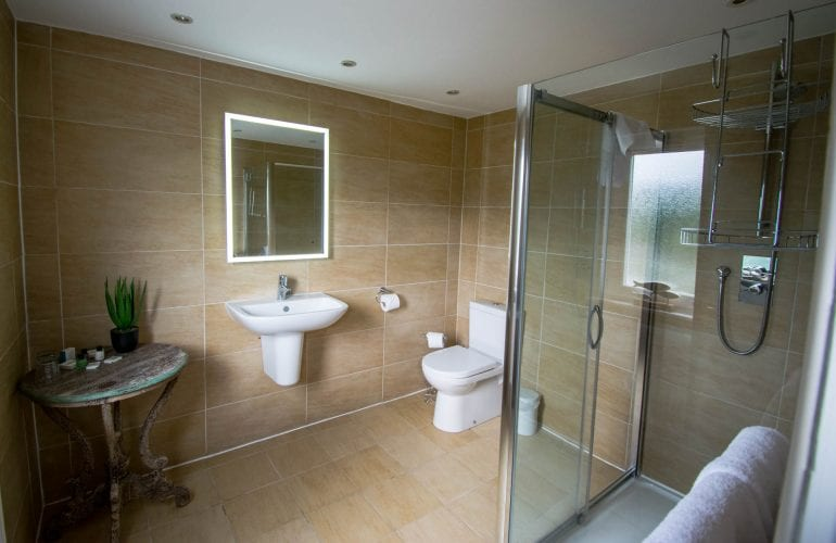Shower Room in our Superior Lodge Room