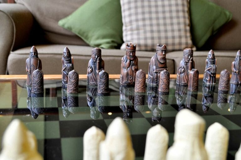 Unwind with a game of chess in our Gunpowder Lounge