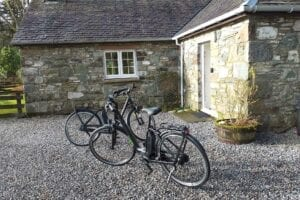 E-bikes are available to hire from Reception at Melfort Village