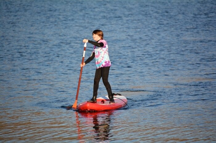 Stand up paddleboarding at Craobh Watersports