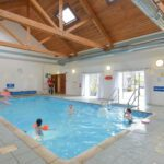 Family Fun in our Swimming Pool at Melfort Village Self Catering Holiday Resort, Scotland